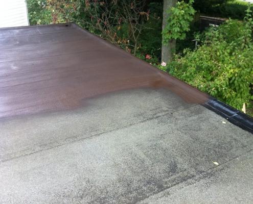 vloeibaar rubber platdak