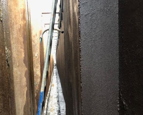 Waterproofing underground basement