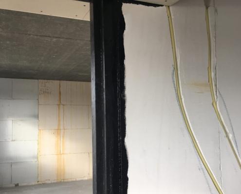 Air barrier doorframes