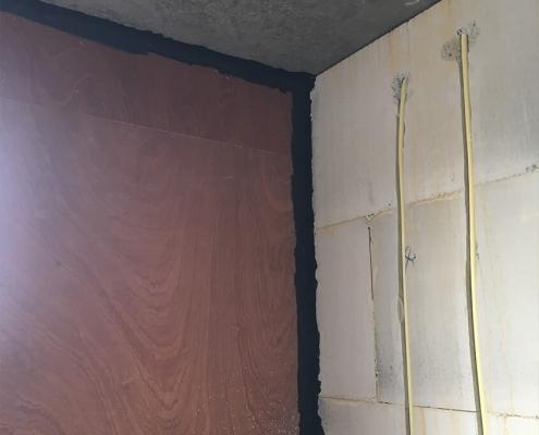 Airtight construction wall to sealing