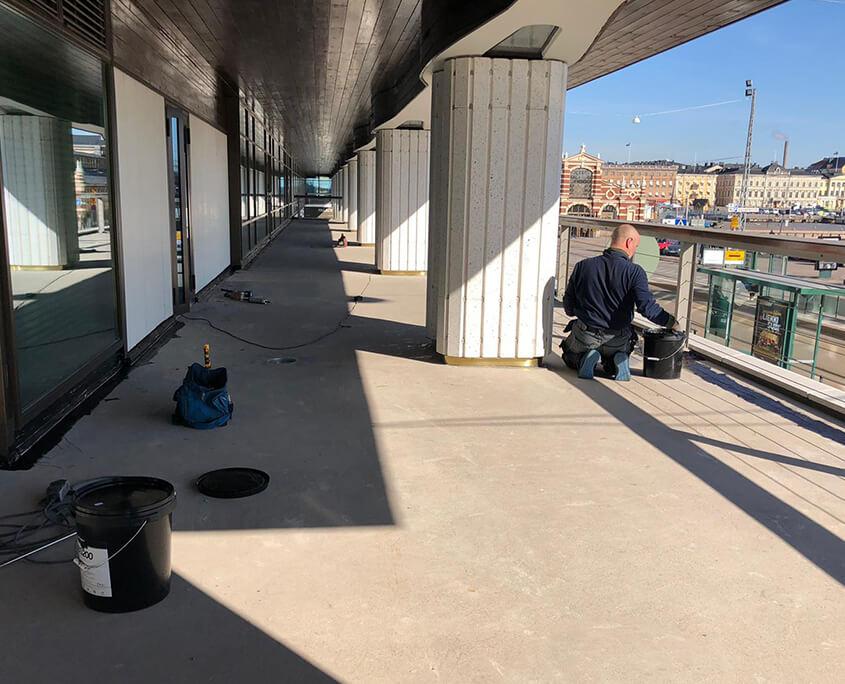 Balcony sealing hbs200 treatment