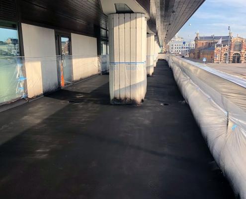 Balcony sealing treated